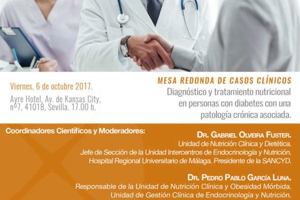 Mesa Redonda de Casos Clínicos: Diagnóstico y tratamiento nutricional en personas con diabetes con una patología crónica asociada