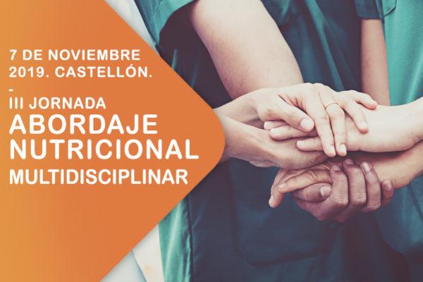 III JORNADA «ABORDAJE NUTRICIONAL MULTIDISCIPLINAR EN EL PACIENTE CON PATOLOGÍA ONCOLÓGICA DE CABEZA Y CUELLO».